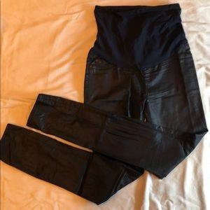 DL1961 black Coates skinny maternity jeans
